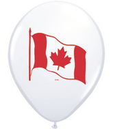 "11"" Canada Flag White (50 ct.)"