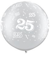 "30"" 25 All Around Silver Latex Balloons (2 ct.)"