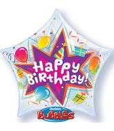 "22"" Birthday Party Blast Plastic Bubble Balloons"