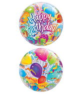 "22"" Birthday Surprise Plastic Bubble Balloons"