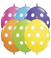 "12"" Qualatex Quicklinks Polka Dots Tropical Asst. (50ct)"