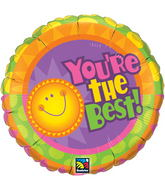 "18"" You're The Best! Radiant Sun Mylar Balloon"