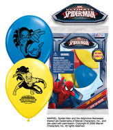 "12"" Spider-Man  6 pack Latex Balloons"