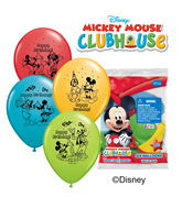 "12"" Mickey Happy Birthday 6 pack Balloons"