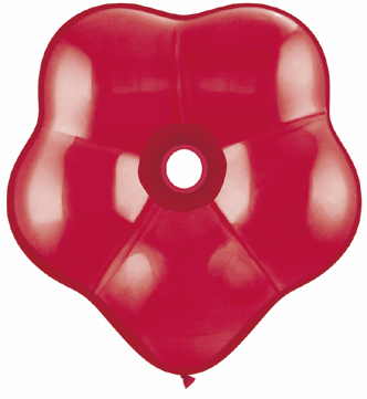 "16"" Geo Blossom Latex Balloons  (25 Count) Ruby Red"
