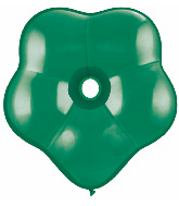 "16"" Geo Blossom Latex Balloons  (25 Count) Emerald Green"