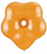 "16"" Geo Blossom Latex Balloons  (25 Count) Mandarin Orange"