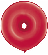 "16"" Geo Donut Latex Balloons (25 Count) Ruby Red"