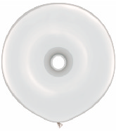 "16"" Geo Donut Latex Balloons (25 Count) Diamond Clear"