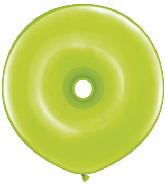 "16"" Geo Donut Latex Balloons (25 Count) Lime Green"
