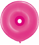 "16"" Geo Donut Latex Balloons (25 Count) Wild Berry"