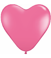 36 Inch Heart Latex Balloons (2 Count) Rose