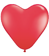 "15"" Heart Latex Balloons (50 Count) Red"