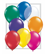 "9""  Qualatex Latex Balloons  JEWEL ASSORT      100CT"