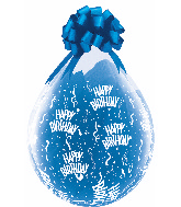 "18"" Stuffing Balloons Birthday-A-Round Clear (25 Count)"