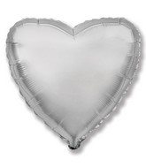 "32"" Metallic Silver Jumbo Heart"