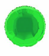 "18"" Green Round Solid Color Foil Balloon"