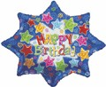 "32"" Large Shape Happy Birthday Explosion Balloon"