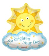 "28"" To Brighten Your Day Mylar Balloon"