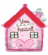 "28"" Jumbo House of Love Mylar Balloon"