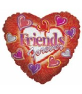 "18"" Friends Forever Hearts Boarder Balloon"