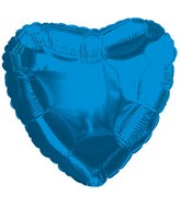 "9"" Airfill Only Blue Heart Foil Balloon"