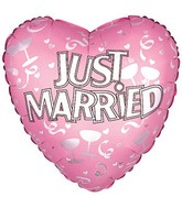 "17"" Just Married Pink Packaged"