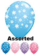 "11"" Qualatex Snowflakes Assorted (50 Count)"