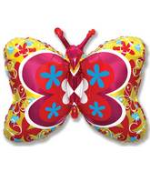 "35"" Yellow Deco Butterfly"
