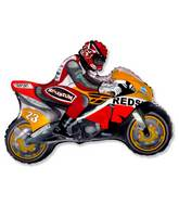 "36"" Moto Racing Bike Red/Orange"