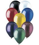 5 inch Crystal Assorted Latex Balloons