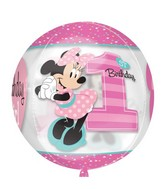"16"" Minnie 1st Birthday Balloon"