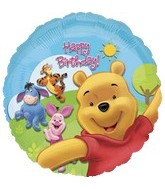 "18"" Winnie the Pooh & Friends Sunny HBD"
