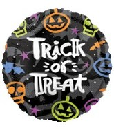 "18"" Trick or Treat Brush Balloon"