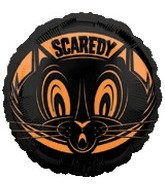 "18""  Scaredy Cat Balloon"