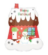"27"" Happy Holidays Scenic Home"