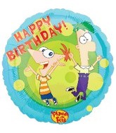 "18"" Phineas and Ferb Happy Birthday"