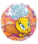 "18"" Tweety Happy Birthday Art Balloon"