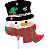 "28"" Airfill Only Snowman with Hat and Scarf"