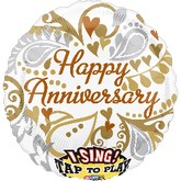 "28"" Silver & Gold Anniversary Jumbo Sing-A-Tune"