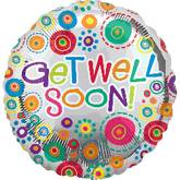 "32"" Get Well Soon Happy Dots Jumbo Balloon"