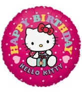 "18"" Hello Kitty Balloon Pink Happy Birthday"