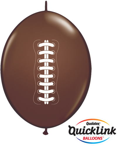 "12"" Quicklink Chocolate Brown 50 Count Football"