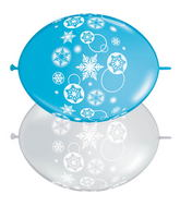 "12"" Quicklink Robin Egg/Clear 50 Count Snowflakes"
