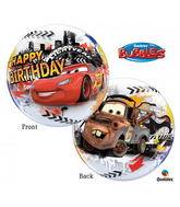 "22"" Single Bubble Lightning Mcqueen Birthday"