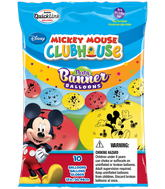 Party Banner Balloons 10 Count Mickey Mouse