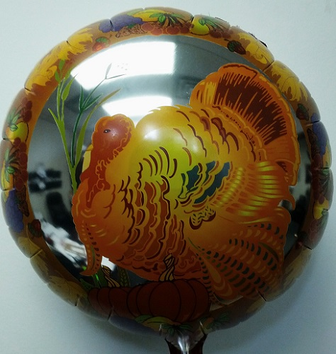 "18"" Thanksgiving Turkey Mylar Balloon"